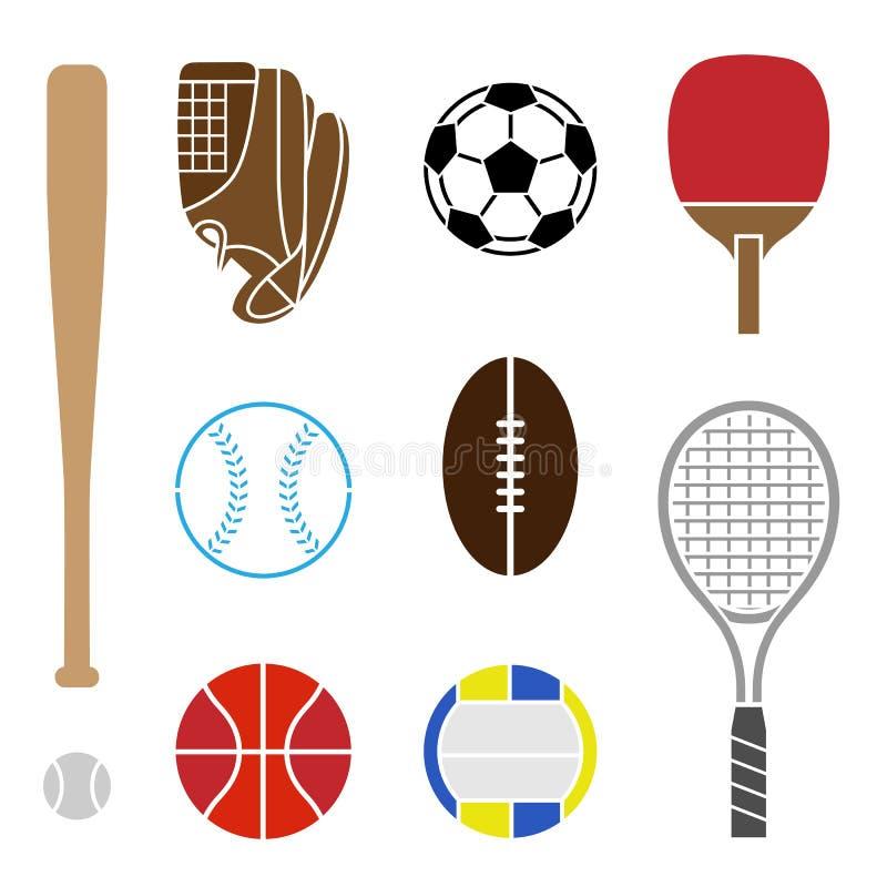 Attrezzatura di sport illustrazione di stock