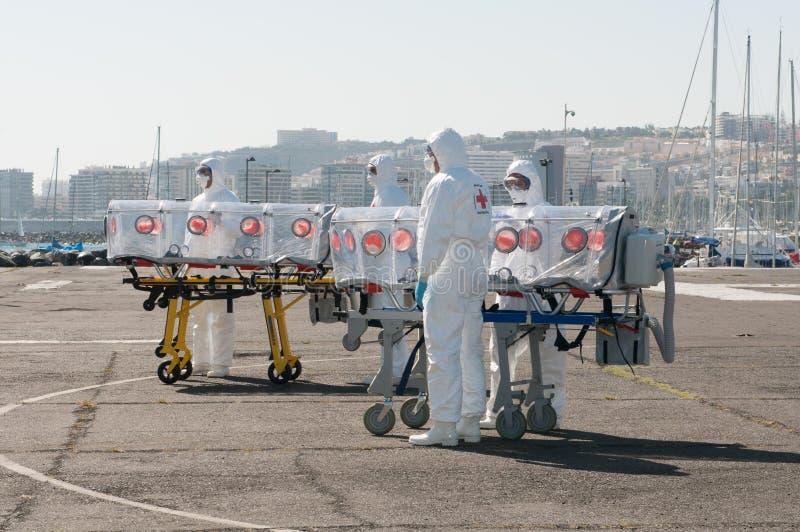 Attrezzatura medica per pandemia del virus o di ebola fotografia stock libera da diritti