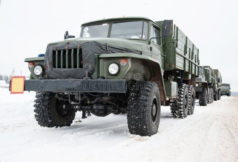 Attrezzatura militare speciale Ural fotografia stock