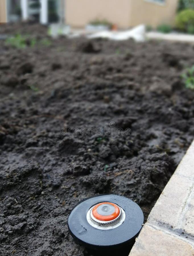 Attrezzatura per irrigazione, controllo e monitoraggio automatici dell'irrigazione fotografie stock libere da diritti