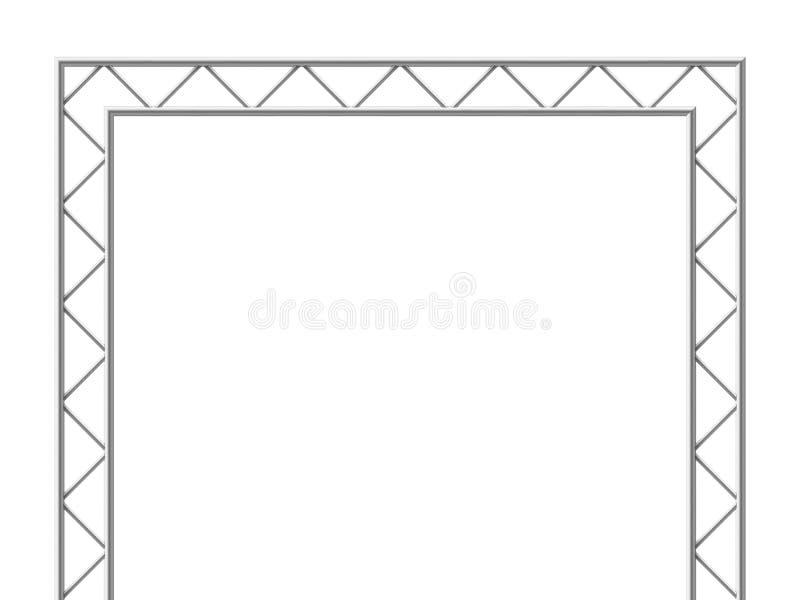 Attrezzatura per l'edilizia d'acciaio dalla trave 3d della capriata Illustrazione di vettore isolata struttura del metallo royalty illustrazione gratis