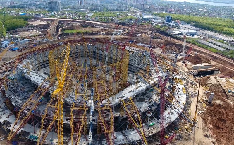Download Attrezzatura Per La Costruzione Dello Stadio Immagine Stock Editoriale - Immagine di architettura, ingegneria: 117976229