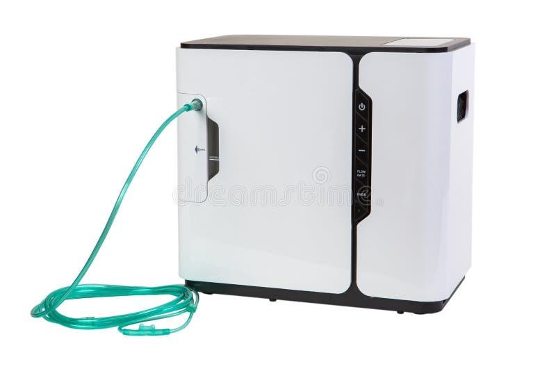 Attrezzatura speciale del mediacl - barra del concentratore dell'ossigeno isolata sopra immagini stock libere da diritti
