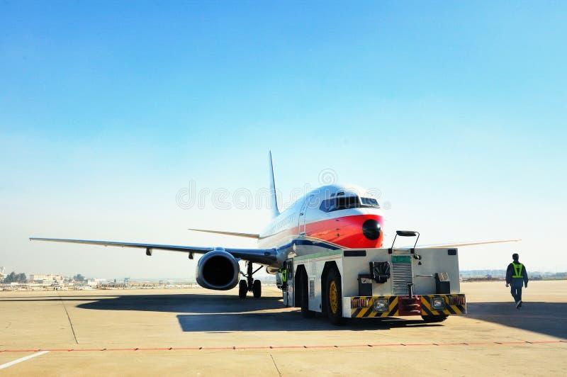 Attrezzature di velivoli della trazione e velivoli immagini stock