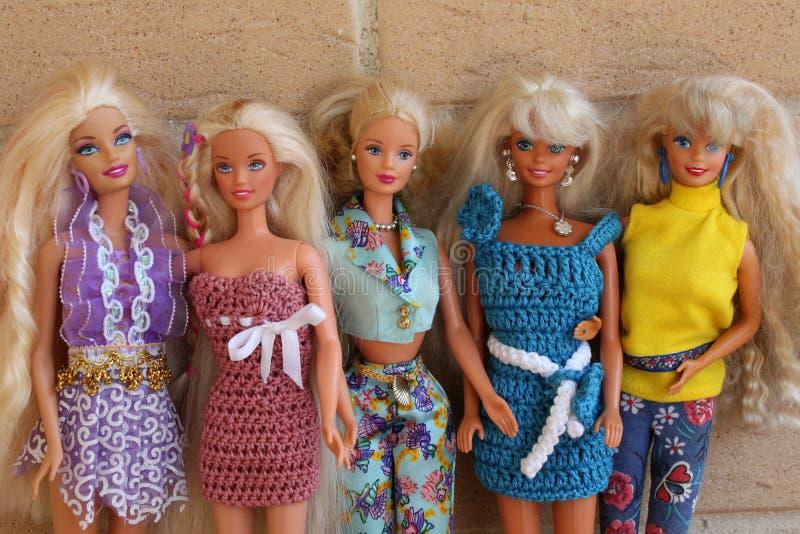 Attrezzature 80s e 90s del briciolo delle bambole di Barbie fotografia stock