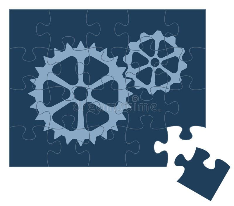 Attrezzi di puzzle illustrazione di stock