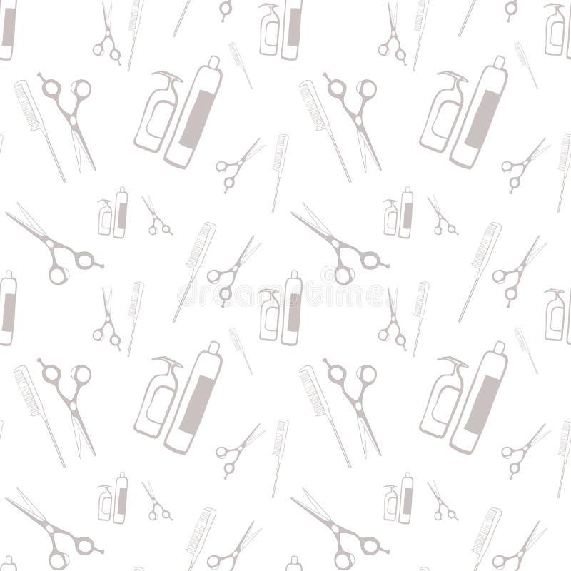 Attribut av den ledar- barberaren stock illustrationer