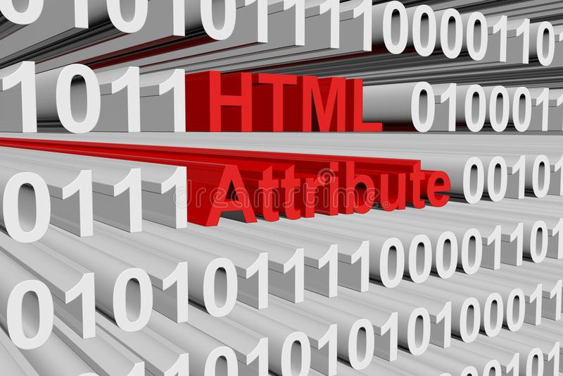 Attribut de HTML illustration libre de droits