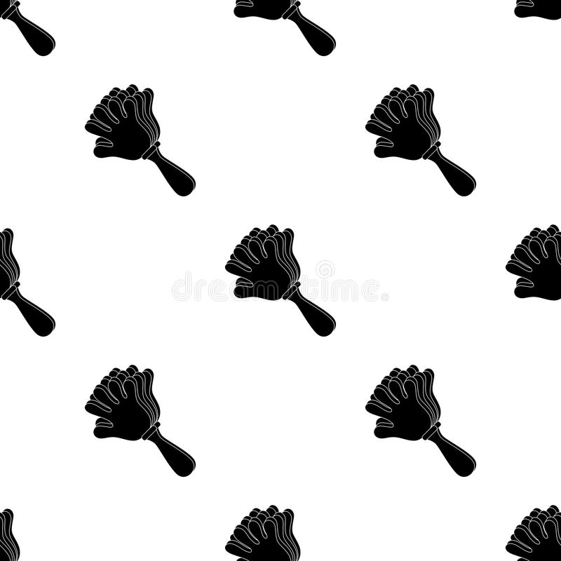 Attribut de la fan sous forme de main Les fans choisissent l'icône dans l'illustration noire d'actions de symbole de vecteur de s illustration de vecteur