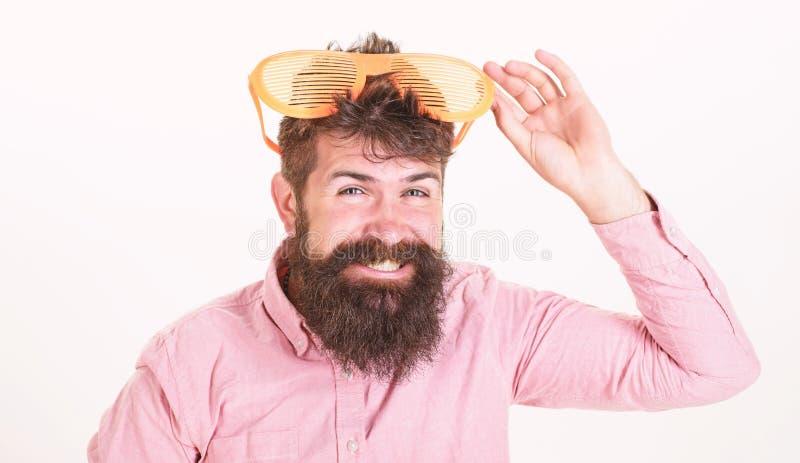 Attribut de vacances de lunettes de soleil Accessoire d'?t? de lunettes de soleil de protection oculaire Lunettes de soleil barbu photos libres de droits