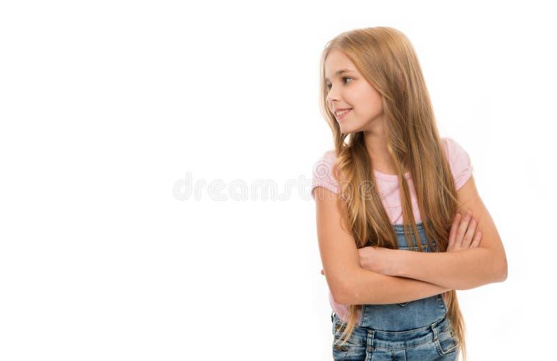 Attribut féminin de longs cheveux Les filles laissent habituellement leurs cheveux se développer longtemps Beauté normale Cheveu  images stock
