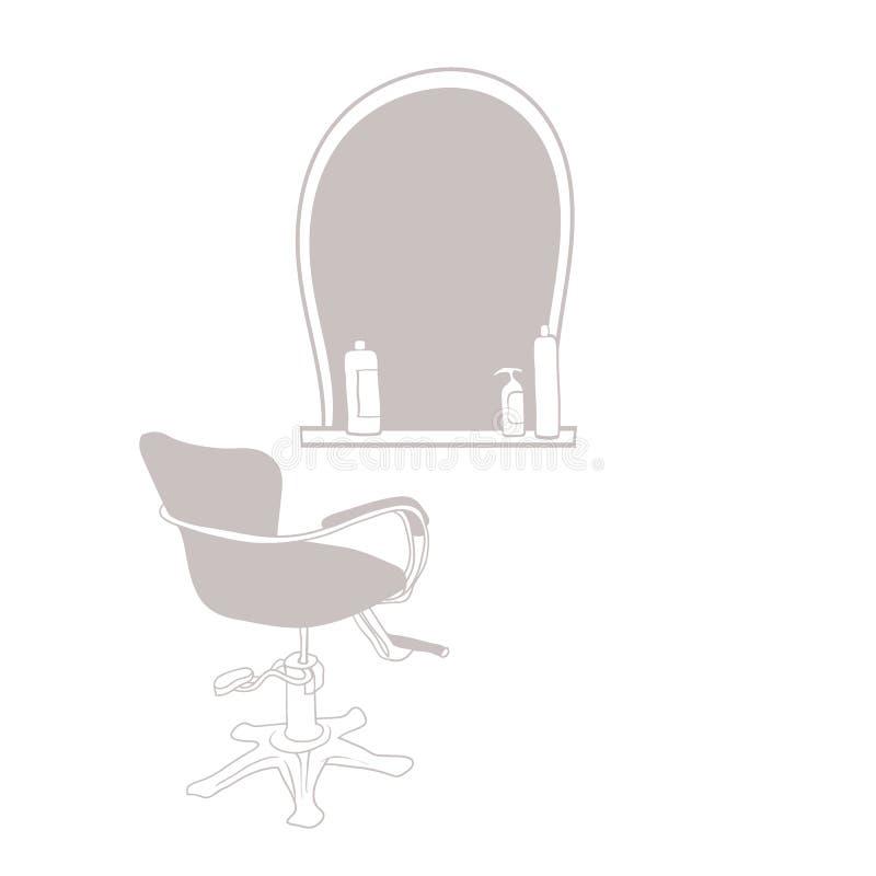 Attribut för hårstylist royaltyfri illustrationer