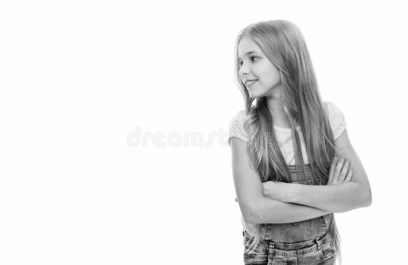 Attribut f?minin de longs cheveux Les filles laissent habituellement leurs cheveux se d?velopper longtemps Beaut? normale Cheveu  images stock