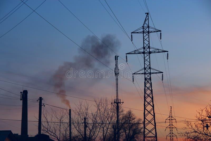 Attributen van urbanisatie en milieuvervuiling royalty-vrije stock afbeeldingen