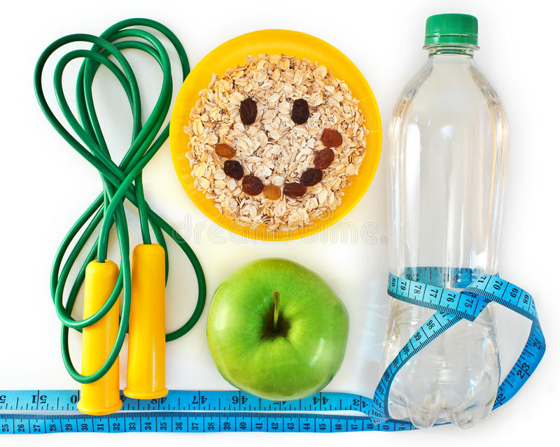 Attributes of a healthy lifestyle royalty free stock images