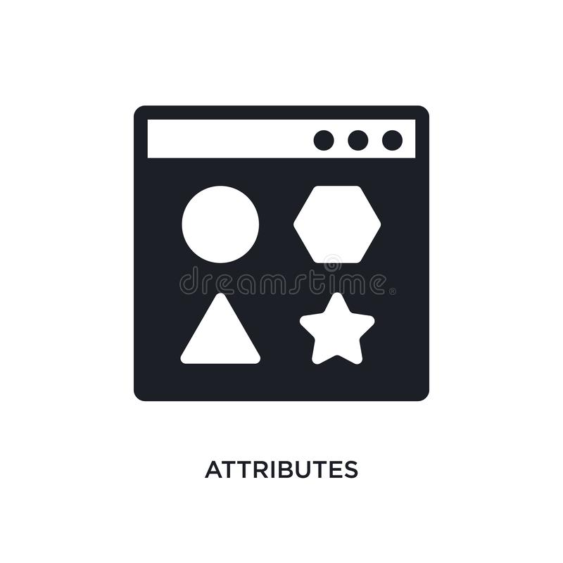 attributes isolated icon. simple element illustration from technology concept icons. attributes editable logo sign symbol design vector illustration