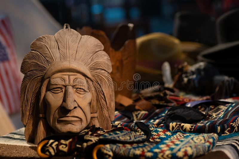 Attributes of Native American Culture at a Native American Festival royalty free stock photography