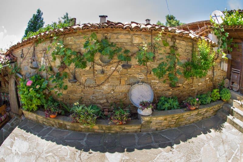Attributes of rural life in Bulgaria stock image
