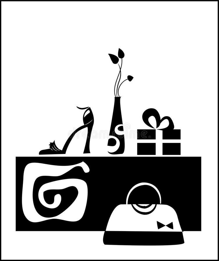 Attributi femminili illustrazione vettoriale