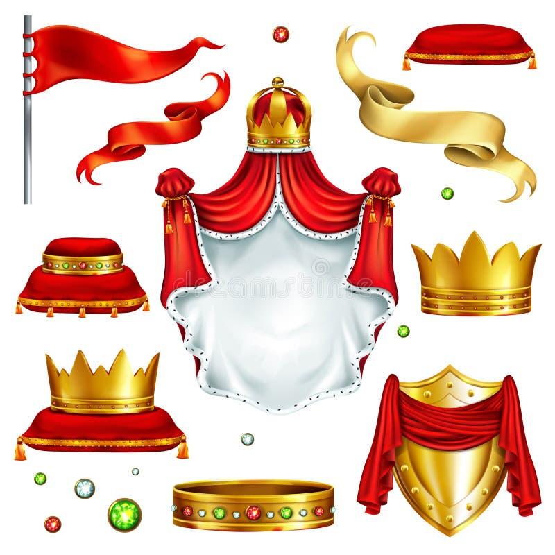 Attributi reali ed insieme realistico di vettore di simboli royalty illustrazione gratis