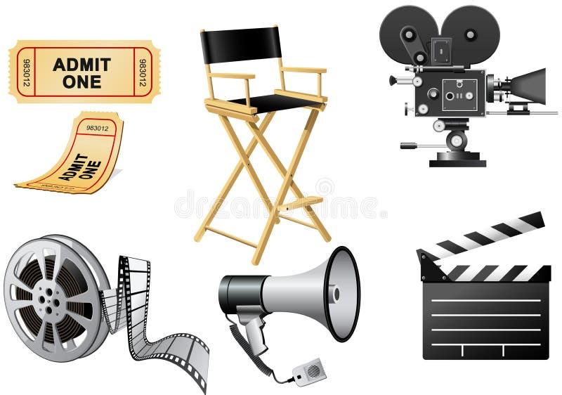 Attributs d'industrie cinématographique illustration libre de droits