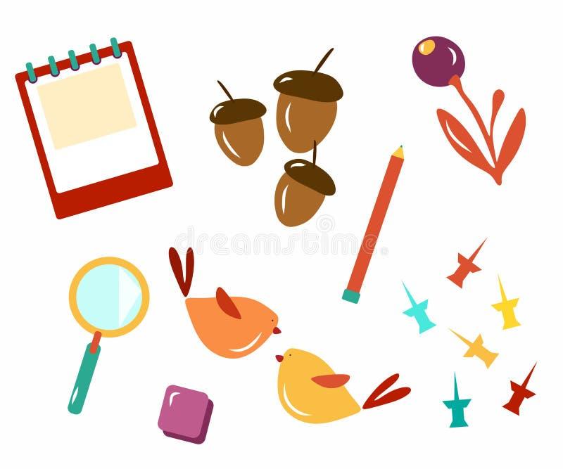 Attributs de l'école Bientôt à l'école Calibre pour la carte postale d'école Calibre pour la conception Les enfants vont à l'écol photographie stock
