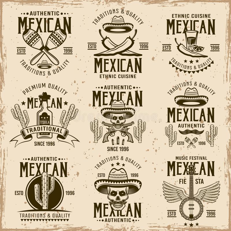 Attributs mexicains de ressortissant et signes authentiques illustration de vecteur