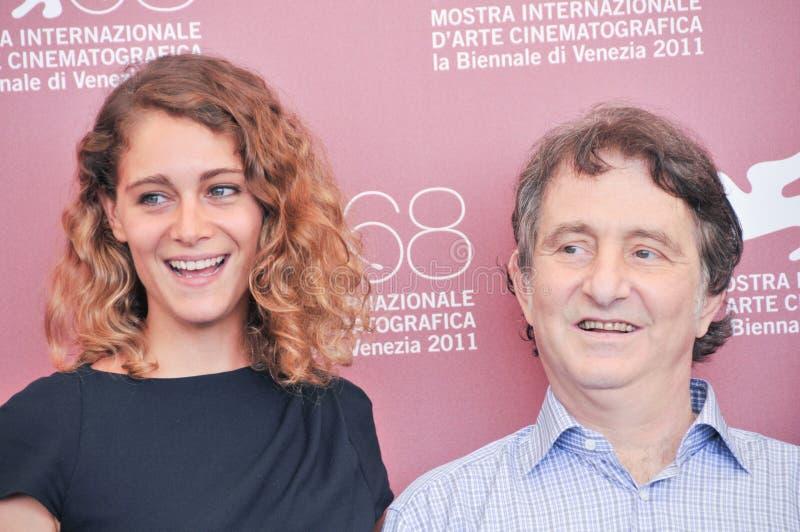 Attrice Aggeliki Papoulia e Ariane Labed immagini stock libere da diritti