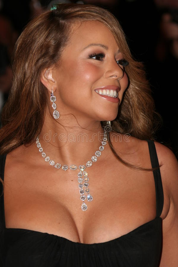 Attrice/cantante Mariah Carey immagini stock
