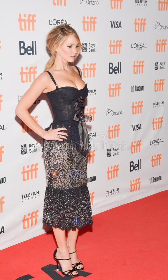 Attrice Jennifer Lawrenc alla madre del `! prima del ` durante il festival cinematografico internazionale 2017 di Toronto al teat immagine stock