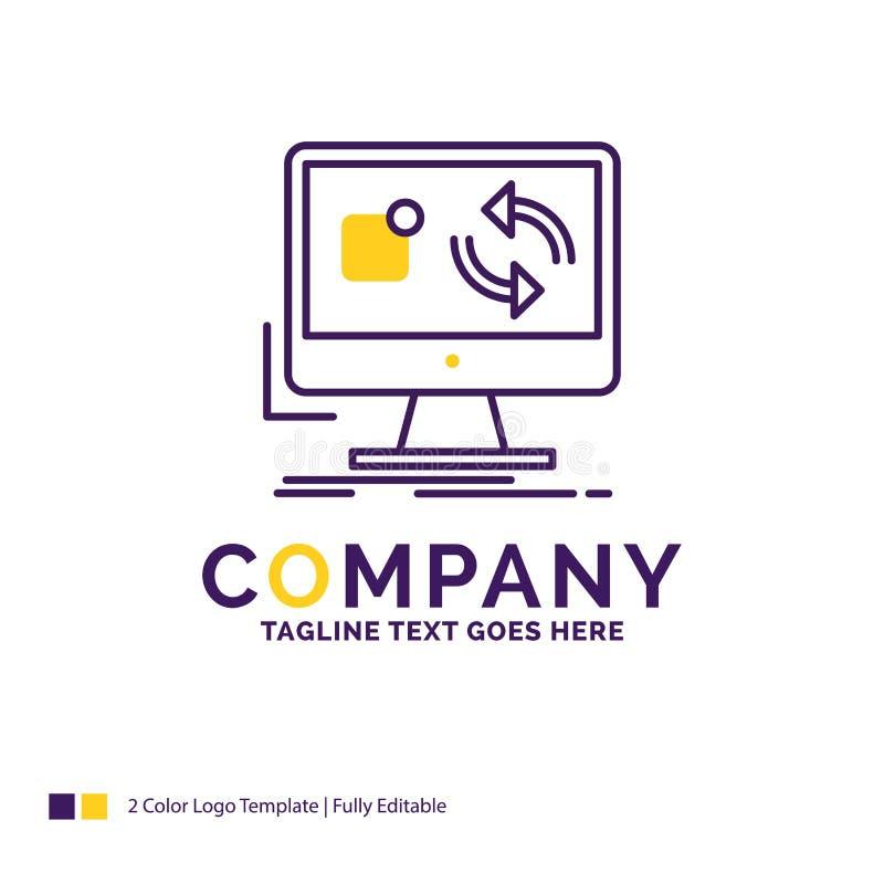 A atualização de Logo Design For do nome da empresa, app, aplicação, instala ilustração stock