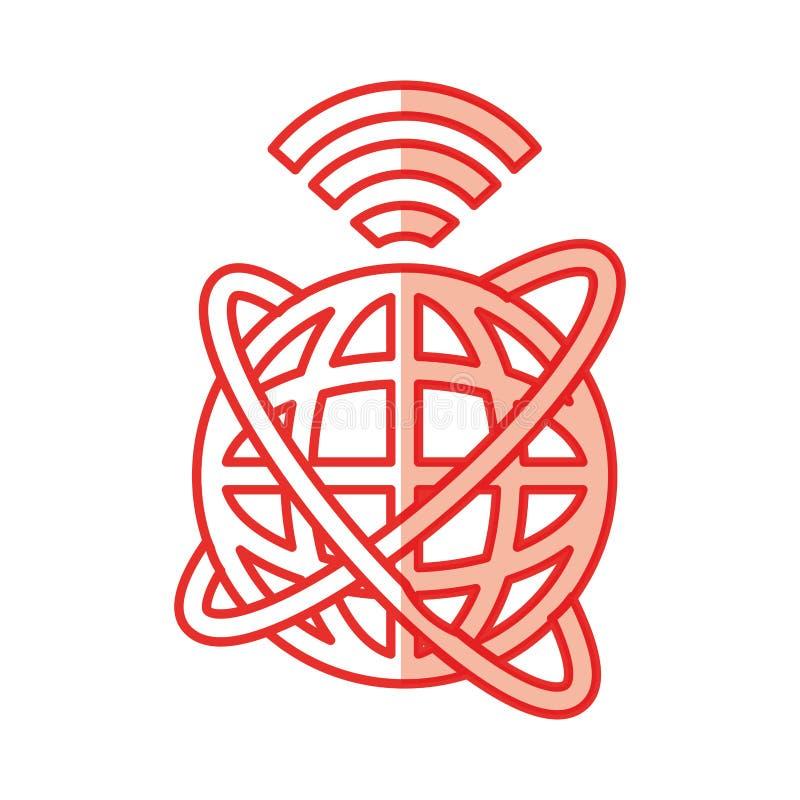 Atualização global do Internet ilustração royalty free
