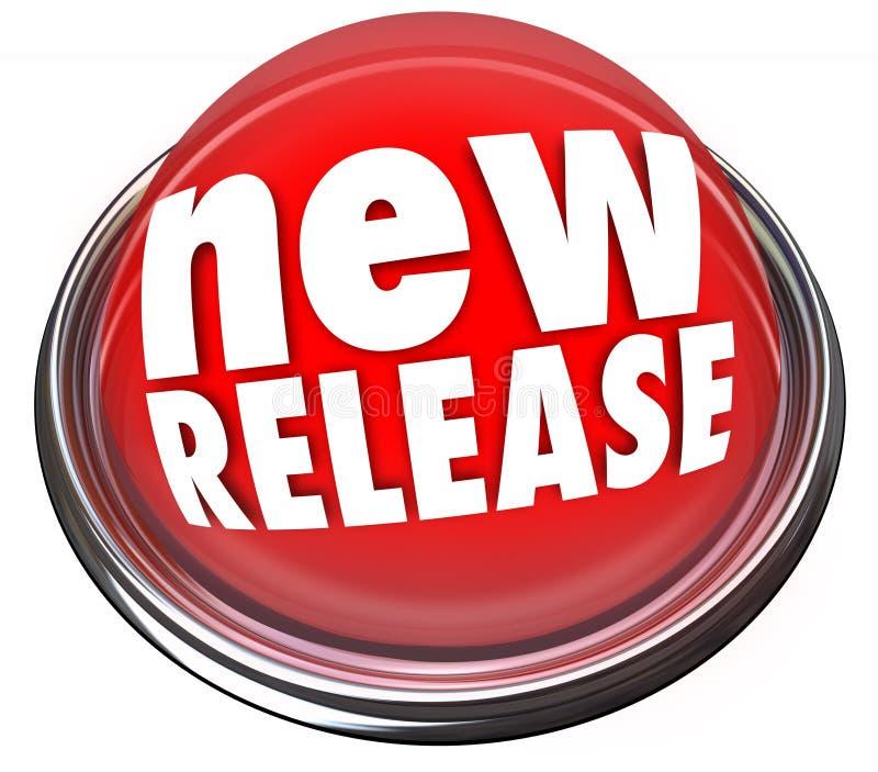 A atualização nova do princípio do produto da liberação refresca o botão vermelho refresca ilustração royalty free