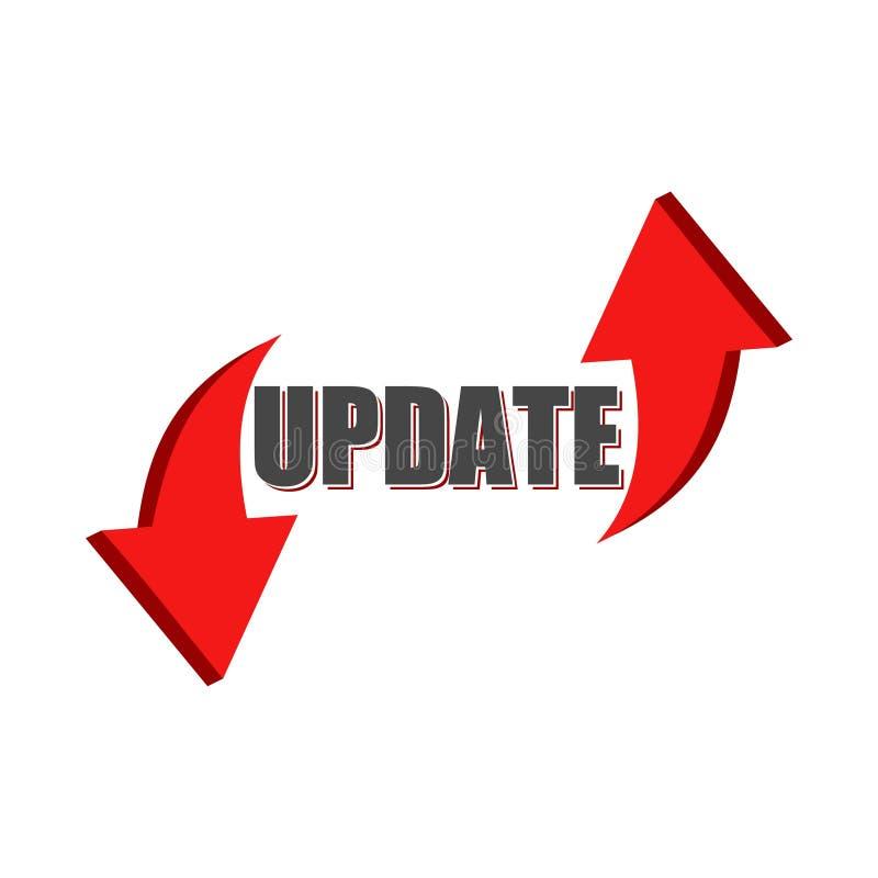 Atualize o ícone do software, significado do conceito que substitui o programa com uma versão mais nova do mesmo produto ilustração do vetor