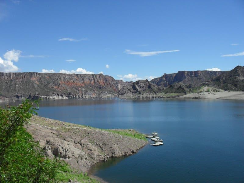 Atuel jezioro, Mendoza, Argentyna zdjęcie stock