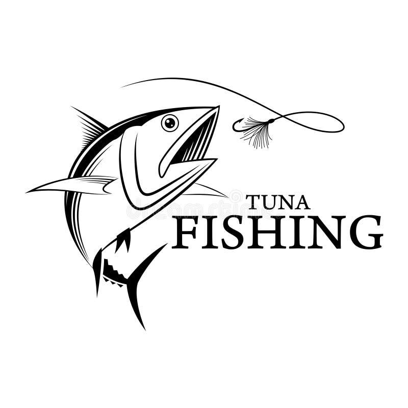Atum da pesca do vetor imagens de stock royalty free