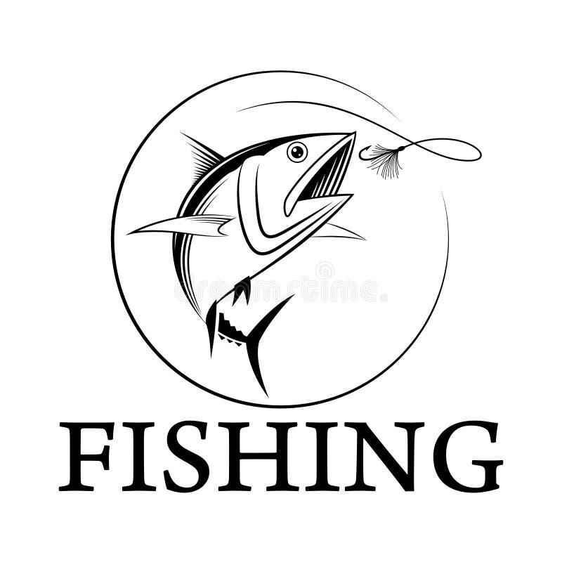 Atum da pesca do vetor foto de stock