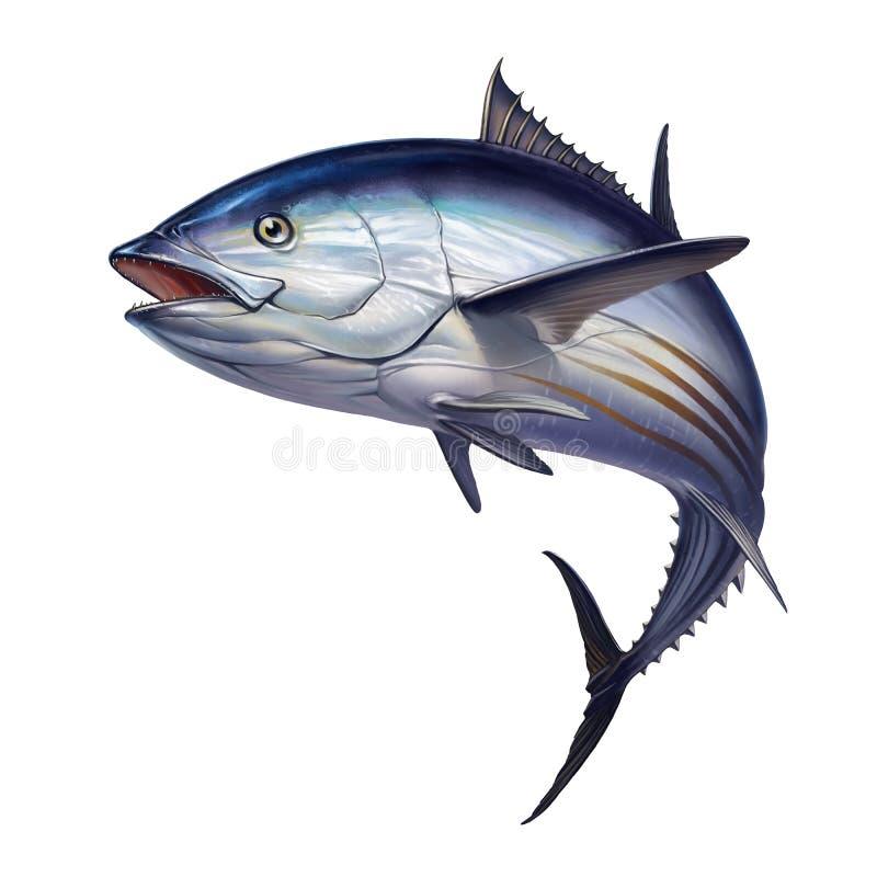 Pesca de mar aberto listrada do atum ilustração stock