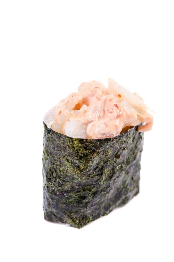 Atum picante (maguro) Gunkan imagem de stock royalty free