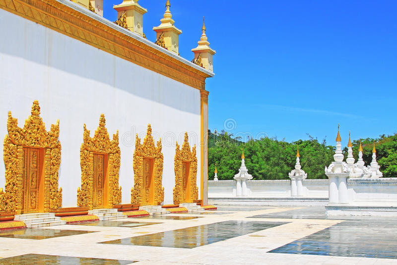Atumashi Monastery, Mandalay, Myanmar. The Atumashi Monastery is a Buddhist monastery located in Mandalay, Myanmar. It was built in 1857 by King Mindon, two royalty free stock image