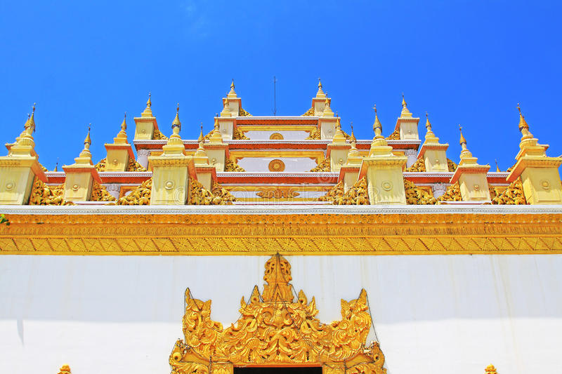 Atumashi Monastery, Mandalay, Myanmar. The Atumashi Monastery is a Buddhist monastery located in Mandalay, Myanmar. It was built in 1857 by King Mindon, two stock photo