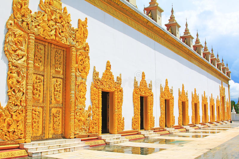 Atumashi Monastery, Mandalay, Myanmar. The Atumashi Monastery is a Buddhist monastery located in Mandalay, Myanmar. It was built in 1857 by King Mindon, two stock images