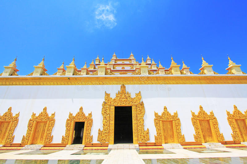 Atumashi Monastery, Mandalay, Myanmar. The Atumashi Monastery is a Buddhist monastery located in Mandalay, Myanmar. It was built in 1857 by King Mindon, two royalty free stock photo