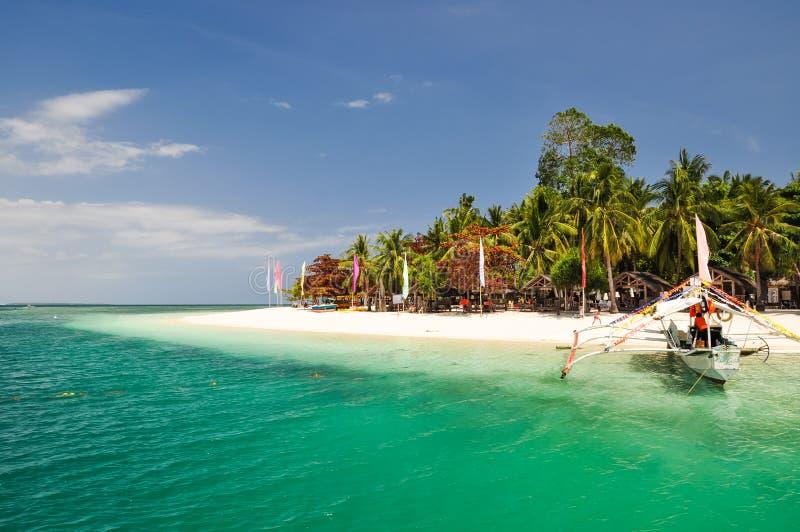 Aturdiendo la isla de Pandan - bahía de Honda, Palawan, Filipinas imagen de archivo libre de regalías