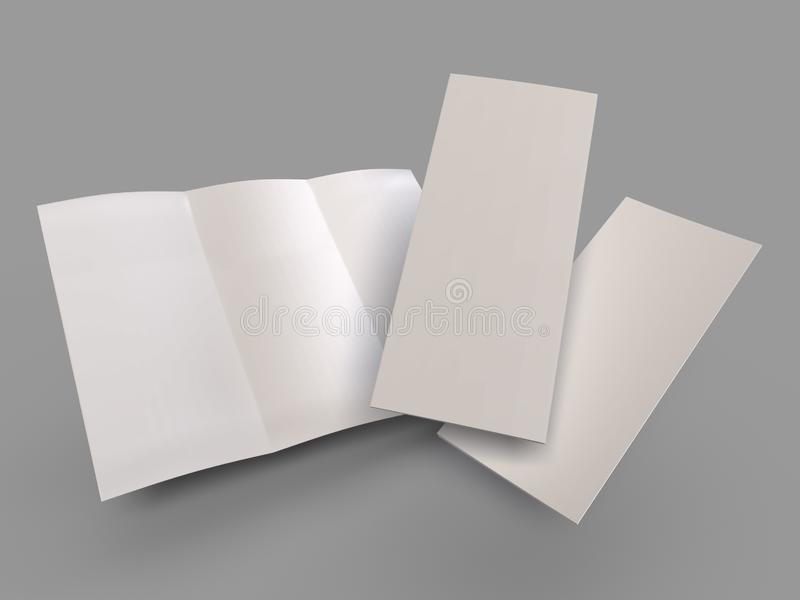 Aturdindo o molde dobrável em três partes vazio do folheto ilustração royalty free