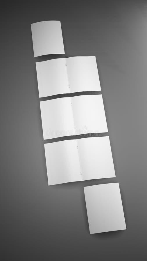 Aturdindo o molde liso do modelo da disposição da placa 8-Page ilustração royalty free