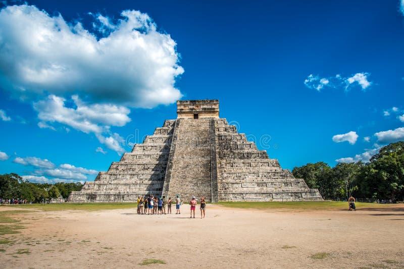 Aturdir chichen a civilização antiga de México do itza imagens de stock royalty free