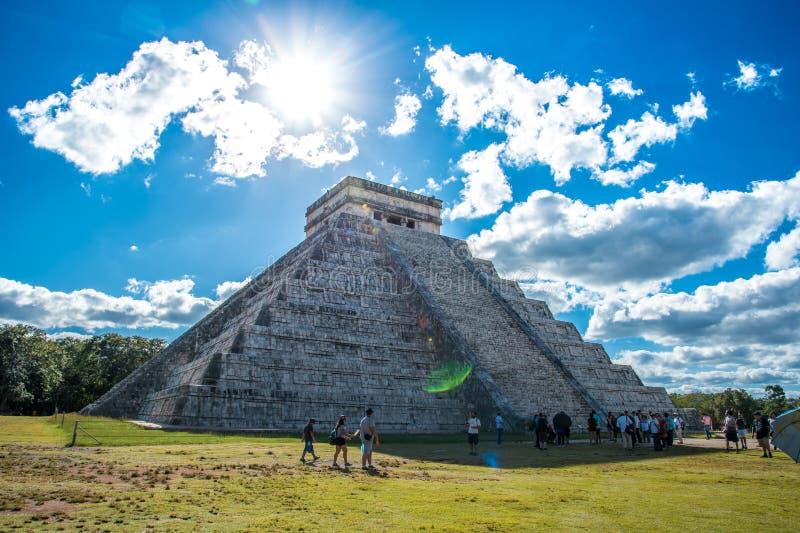 Aturdir chichen a civilização antiga de México do itza foto de stock royalty free