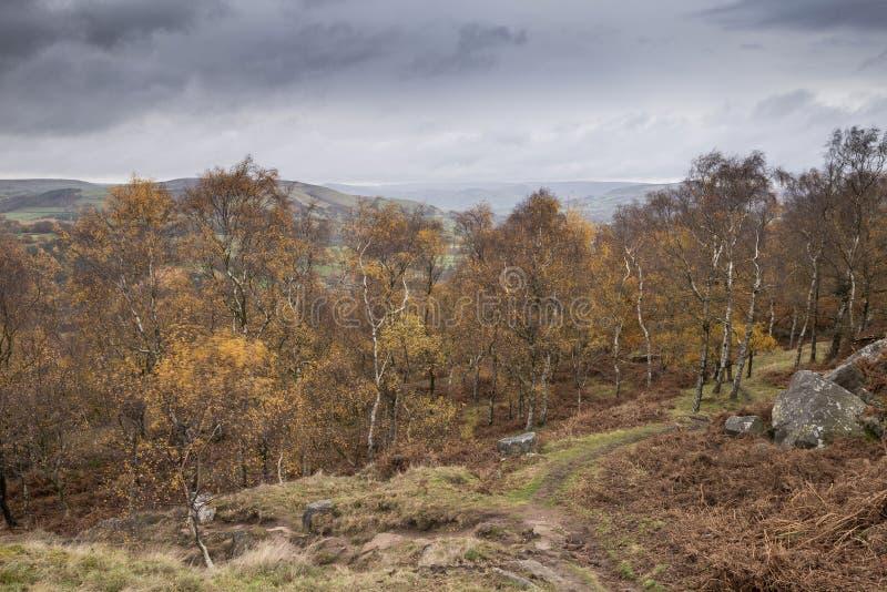 Aturdir escena del paisaje de Autumn Fall de la opinión de la sorpresa en distrito máximo en Inglaterra fotografía de archivo