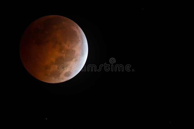 Aturdir oct 8vo 2014 eclipses lunares de Bloodmoon foto de archivo